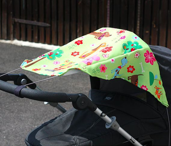 Sonnensegel für den Kinderwagen - Schnittmuster und Nähanleitung via Makerist.de