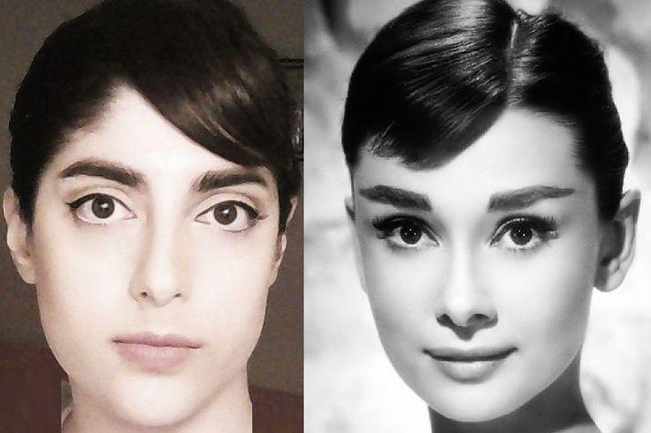 Audrey Hepburn makeup diy bangs