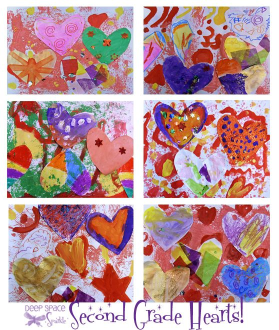 Collage Art Project for Valentine's Day from Deep Space Sparkle; simple and fun!