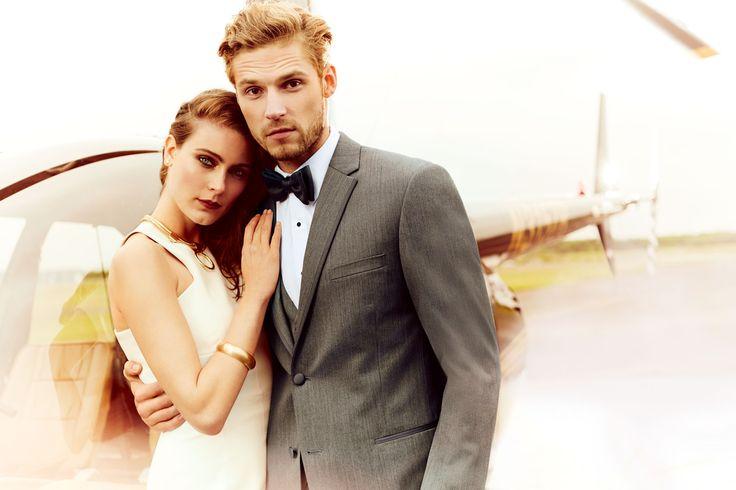 Michael Kors Affection Slim Fit - Style #605 Black Tie Formalwear