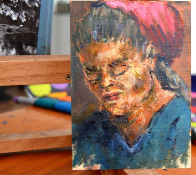Pintura al óleo - serie_mini_  kodina en DaWanda