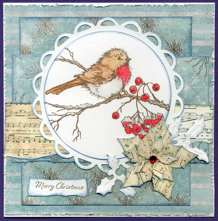 stampendous snowbird stamp and joy papers