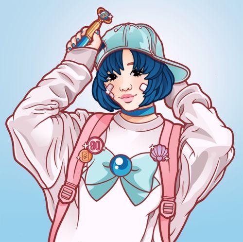 """Evelin Suarez - """"Fight like a girl, Sailor Mercury"""" ✨"""