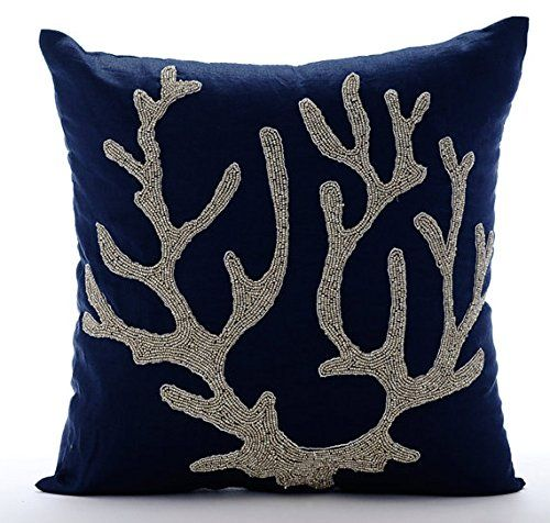 Navy Blue Throw Cushions Cover for Couch, Beaded Corals O... https://www.amazon.co.uk/dp/B016H8VZJI/ref=cm_sw_r_pi_dp_x_fMlGybZE3GYX5
