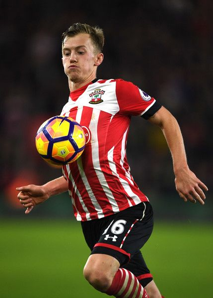 James Ward-Prowse of Southampton controls the ball during the Premier League match between Southampton and Everton at St Mary's Stadium on November 27, 2016 in Southampton, England.