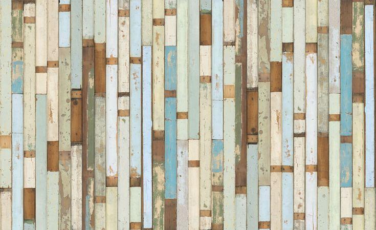 piet hein eek: scrapwood wallpaper: Planks, Distressed Wood, Colors Combos, Salvaged Wood, Heine Eek, Piet Heine, Living Room, Scrapwood Wallpapers, Accent Wall