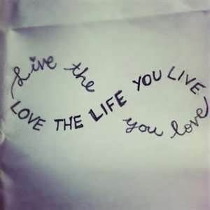 Bob Marley quotation in an infinity sign - LOVE it! :)