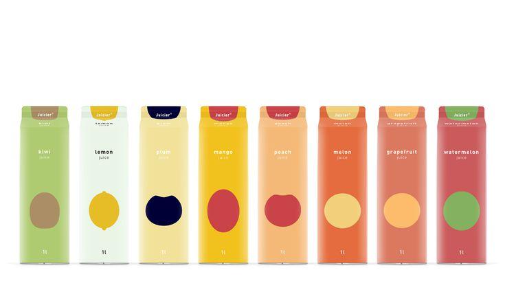 極簡印象派的果汁包裝 | MyDesy 淘靈感