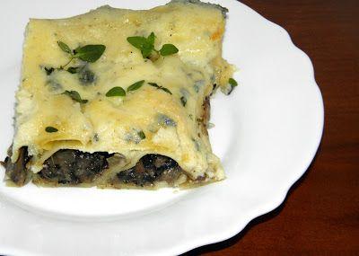 zadanie - gotowanie: Cannelloni nadziewane pieczarkami i serem pod besz...