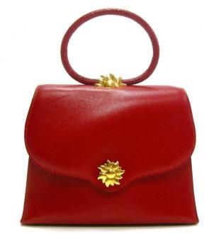 Hermès red Ilio Sunset Evening Bag