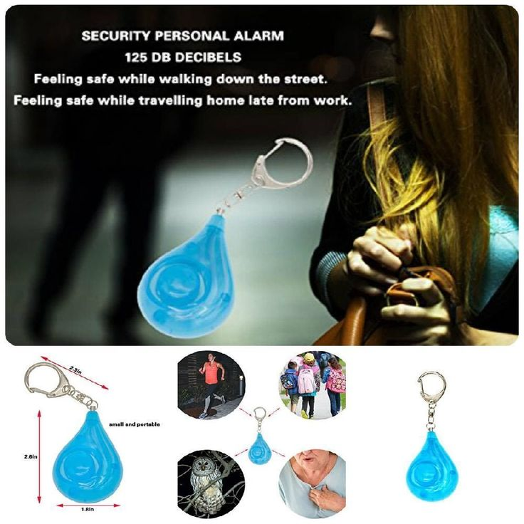 Self-Protection Security Alarm Emergency Safety Sound Keychain Gadget For Kids #XORXL