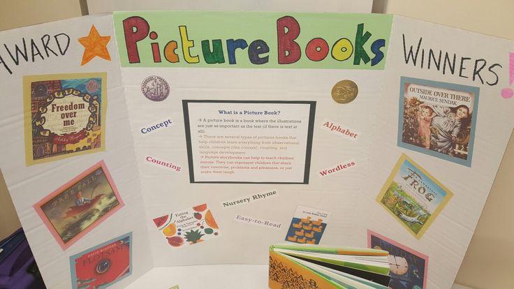 Picture book genre bulletin board