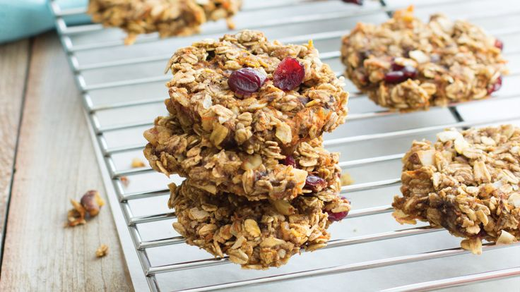 Carrot Cake Oatmeal Cookies. Love carrot cake? Then you'll love these nutritious fiber-rich cookies.