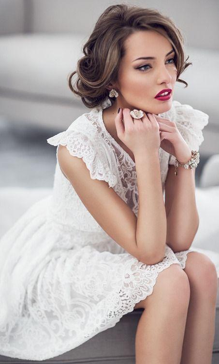 White Sleeveless Lace Dress