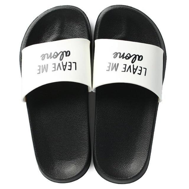 Fashion Women Summer Slippers Thick Soled Slides Platform Beach Sandals Black White