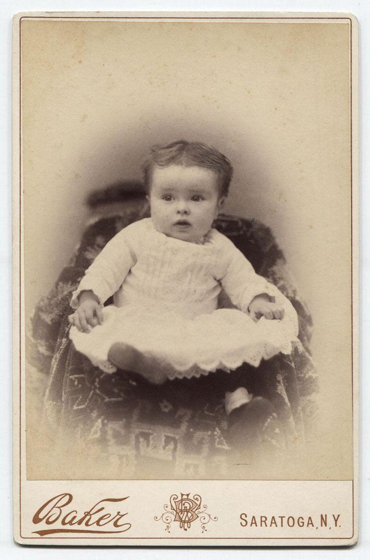 Cabinet Card Very Cute Baby So Cute Too Cute Saratoga N Y | eBay