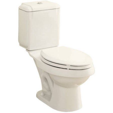 Sterling 402027-96 Rockton 1.6/0.8-GPF 12 inch Rough-In WaterSense Elongated Dual-Flush 2-Piece Standard Height Toilet, Biscuit, White