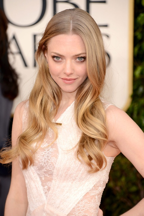 Amanda Seyfried at the Golden Globes - beautiful natural makeup inspiration for the effortless bride