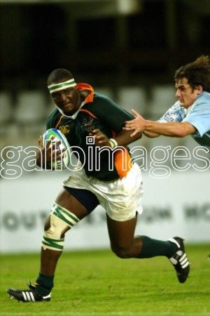 DURBAN, SOUTH AFRICA: 1 April 2005, Mahlatse Chiliboy Ralepelle during the IRB U19 World Championship match between South Africa and Argentina at Kings Park in Durban, South Africa Photo Credit - Gallo Images