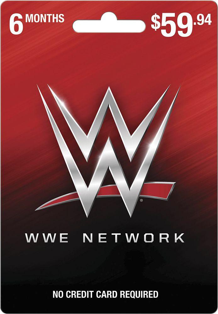 WWE Network - 6-Months Subscription Prepaid Card