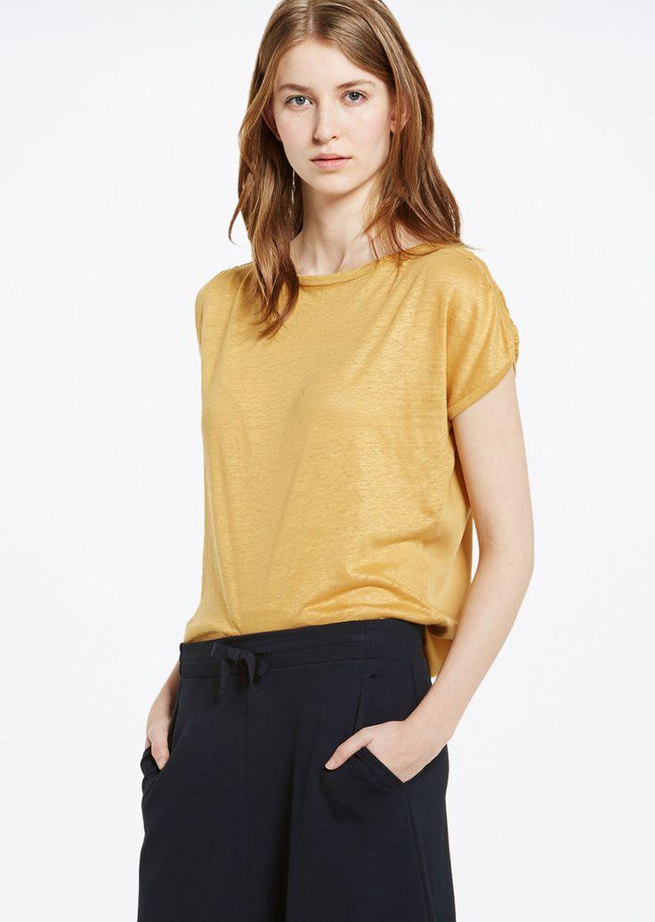 MARC O'POLO, Damen, Bekleidung, T-Shirts / Tops, T-Shirt, mit Raff-Details