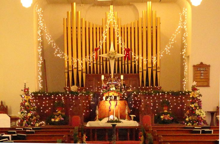 ... Light of the World with a lovely Christmas display in our sanctuary