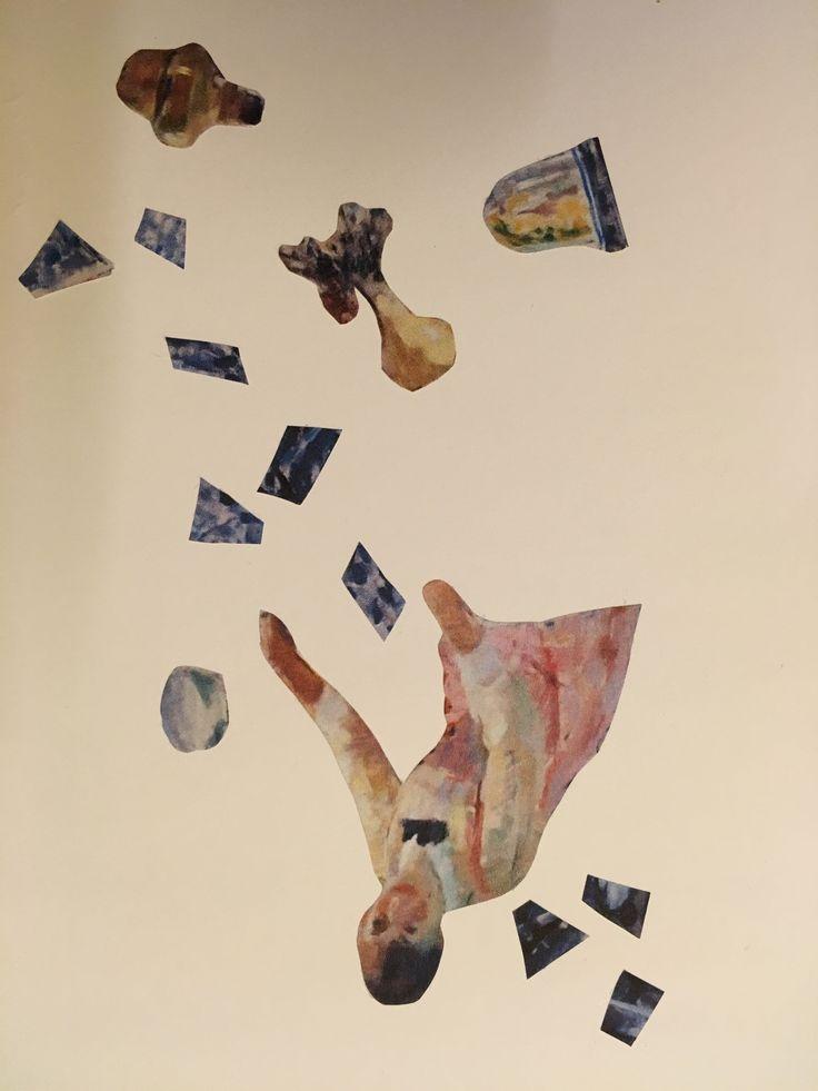 Kunstenaar: Rik Wouters Vertrekken vanuit een abstract werk. Opnieuw samengevoegd tot een dynamische compositie.