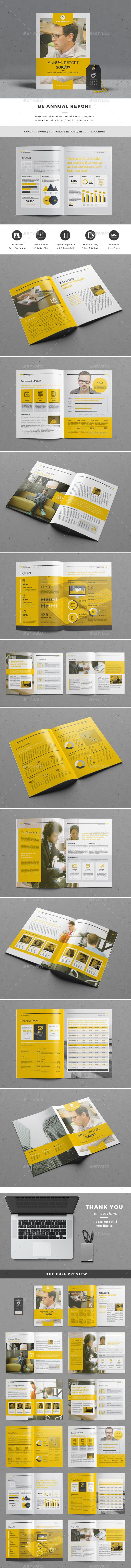 Be Annual Report #yellow • Available here → http://graphicriver.net/item/be-annual-report/15522022?ref=pxcr