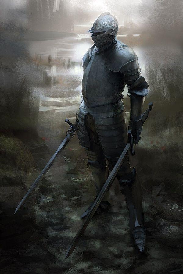 Armored knight by Mathias Verhasselt
