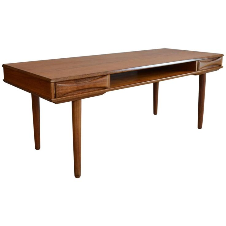 modern furniture coffee tables. mid century retro vintage arne vodder danish teak coffee table with drawers 1950s pinned by modern furniture tables n