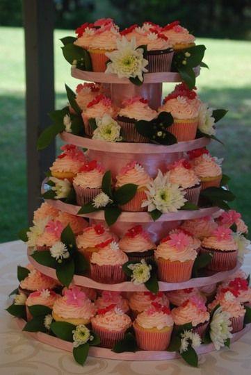 Pink Buttercream Cupcake Tower