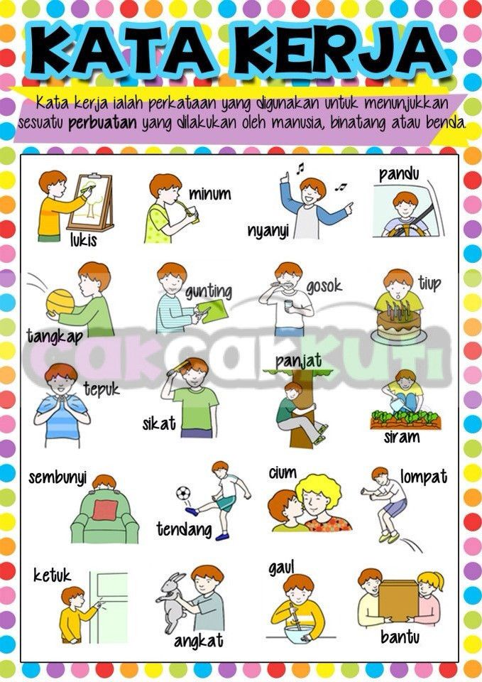 P1004 - POSTER KATA KERJA – Cak Cak Kuti Educational Supplies ...
