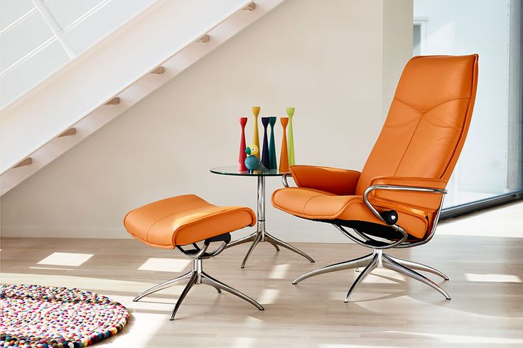 Stressless City recliner with ottoman from Ekornes. This chair is super comfortable. $3800. One day!
