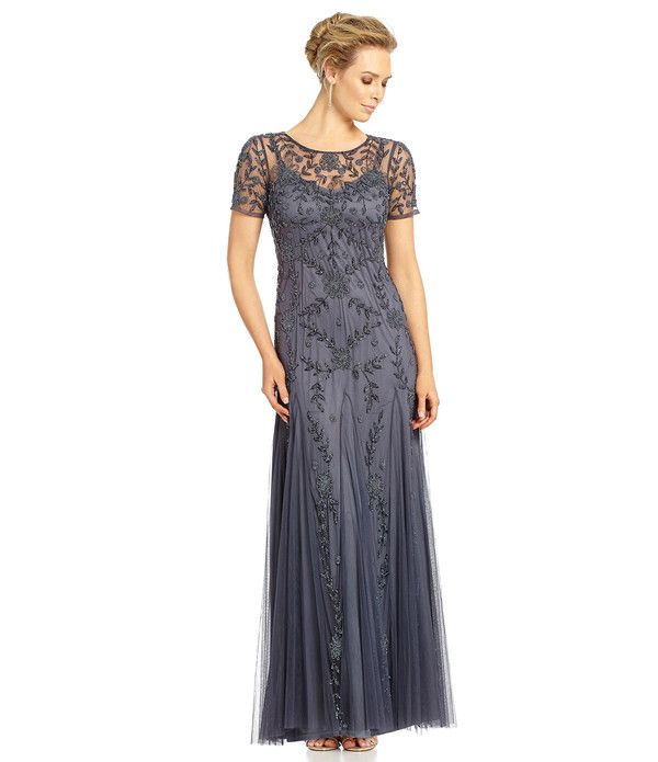 Dress with Illusion Neckline - Fashionable and Comfortable: Trendiest Mother of the Bride Dresses of 2016 - EverAfterGuide