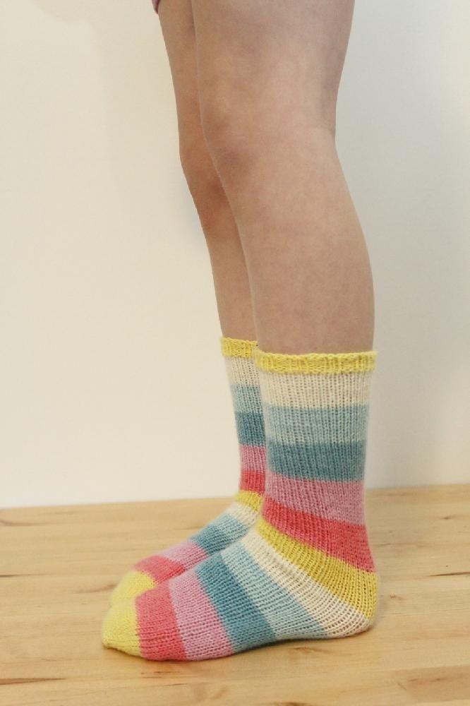 TUBE SOCKS for Kids Knitting pattern by Jane Richmond ...