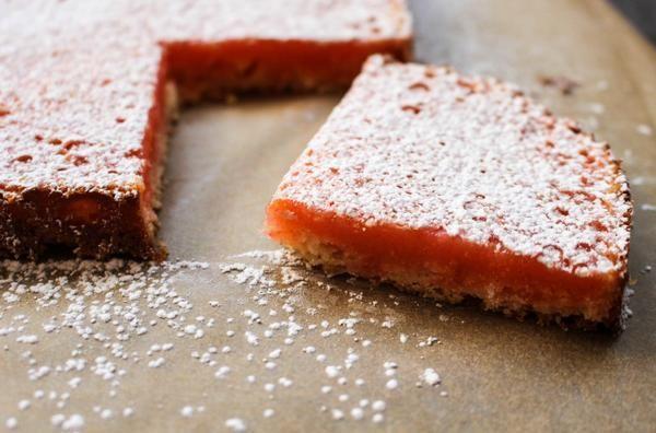 Grapefruit-Lemon Bars / #SeasonalDessert