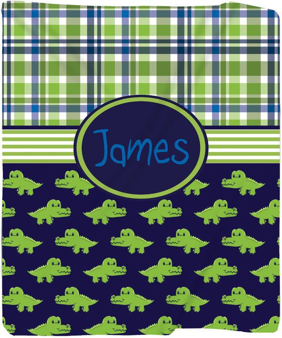 personalized fleece blanket | Personalized Later Gator Plush Fleece Blanket - Other Themes Available