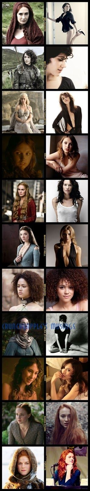 Game of Thrones Women Characters | CrunchyApple's Musings: The Real Women Of Game Of Thrones