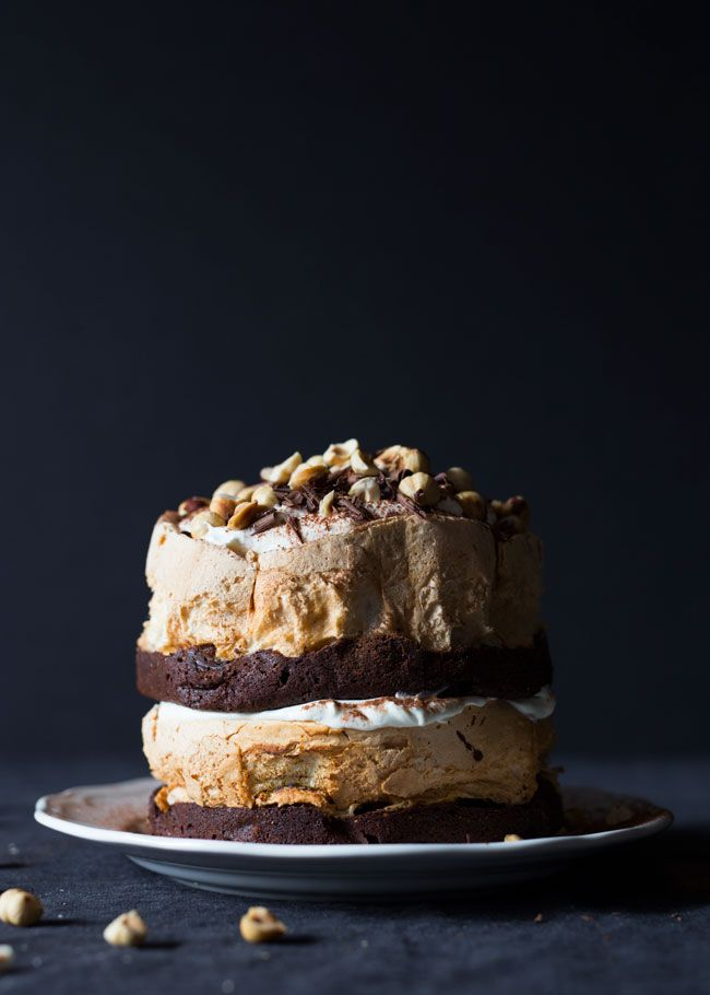 Chocolate hazelnut, Meringue and Cakes on Pinterest