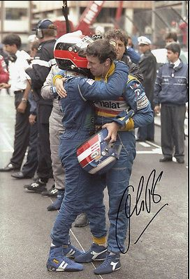 Olivier #panis hand signed ligier gauloises #blondes photo #12x8.,  View more on the LINK: http://www.zeppy.io/product/gb/2/181305409380/