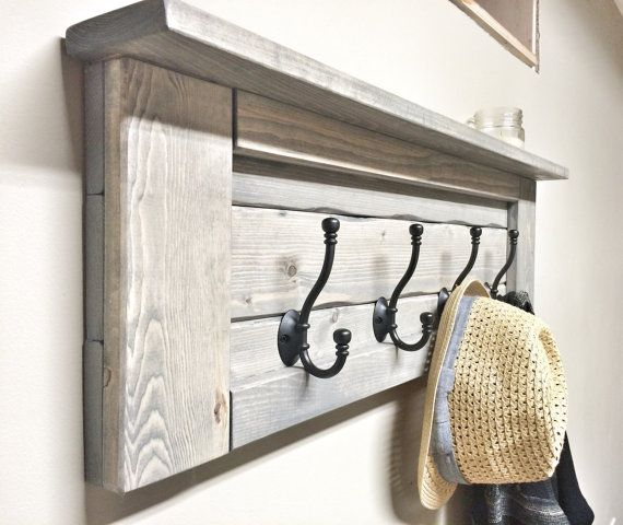 Hey, I found this really awesome Etsy listing at https://www.etsy.com/listing/261005218/rustic-wooden-entryway-grey-coat-rack