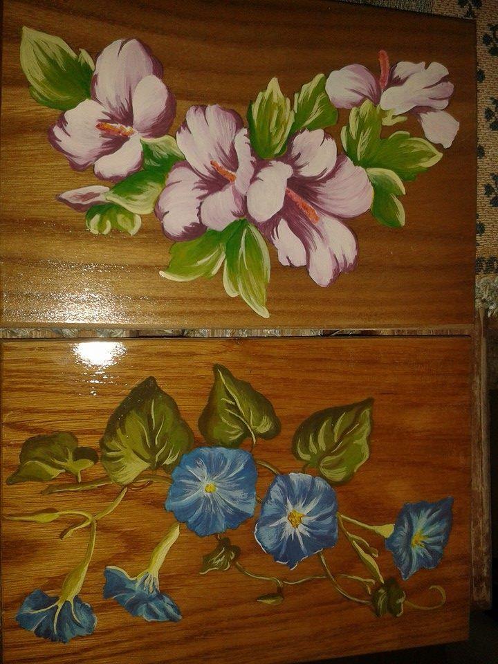 Quadretti fiori ad acrilico