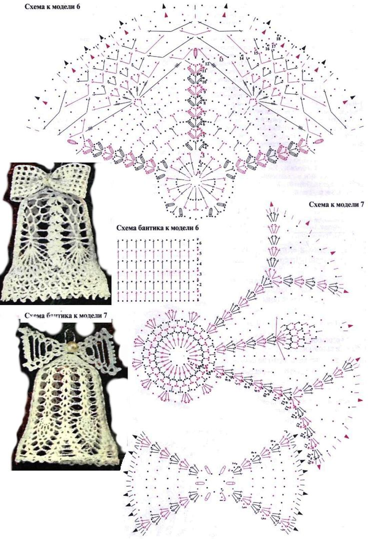 Crochet bells chart pattern