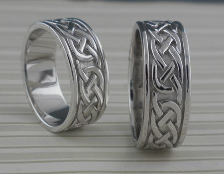 Celtic Knot Wedding Ring Silver Ladies & Men's