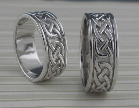 Celtic Knot Wedding Ring Silver Ladies & Men's