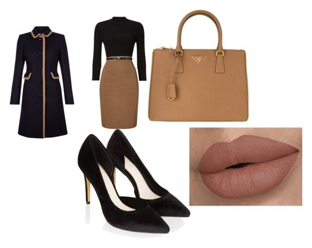 """mode"" by mala-653 ❤ liked on Polyvore featuring Phase Eight, Monsoon, Prada and Hobbs"