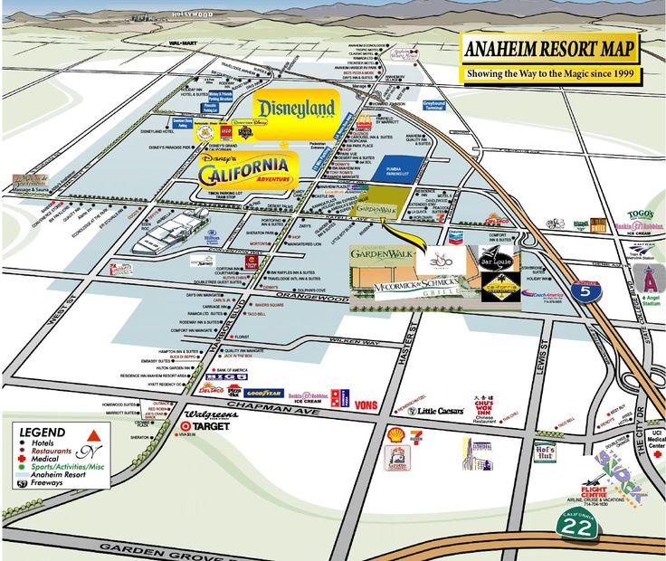 Best 25 Disneyland Area Hotels Ideas On Pinterest: Closest Hotels To Disneyland Entrance Map At Slyspyder.com