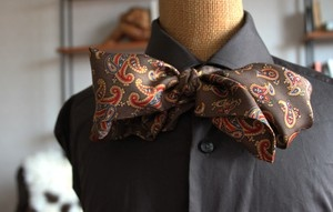 Mud Brown Paisley Cravat