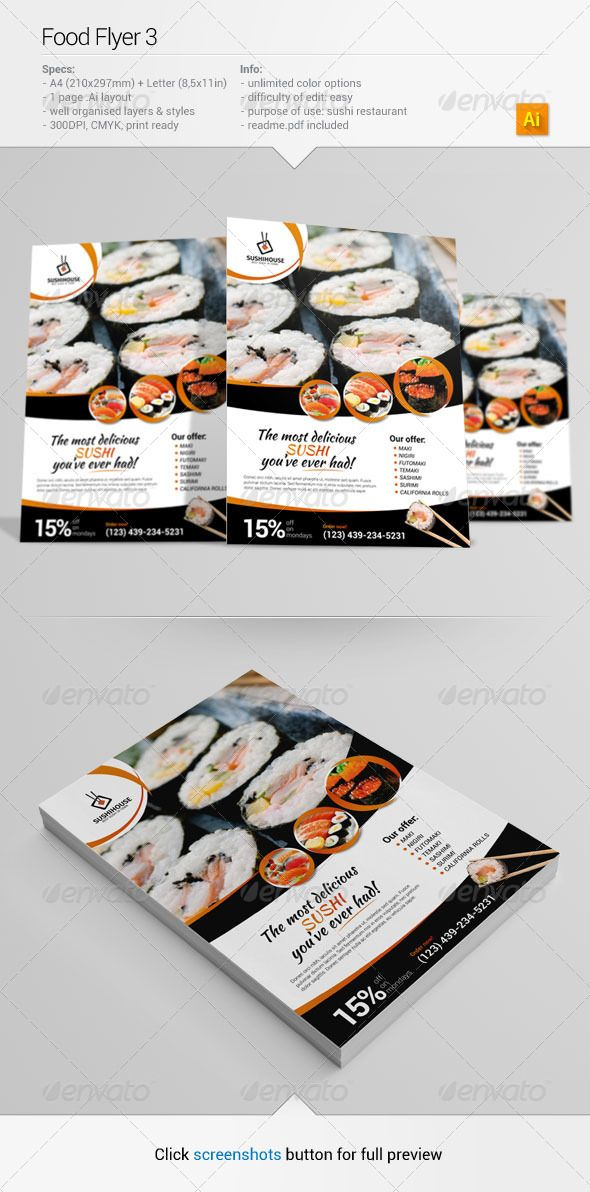 Food Flyer 3 #GraphicRiver