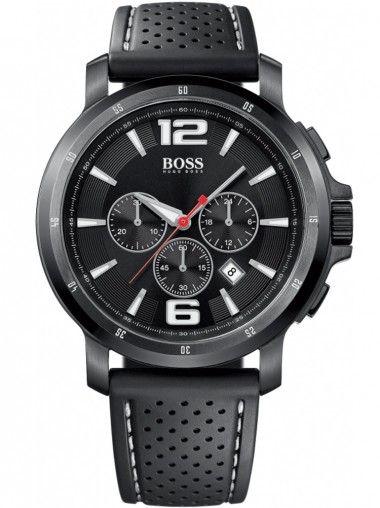 Hugo Boss Mens Leather Strap Chronograph Watch 1512630